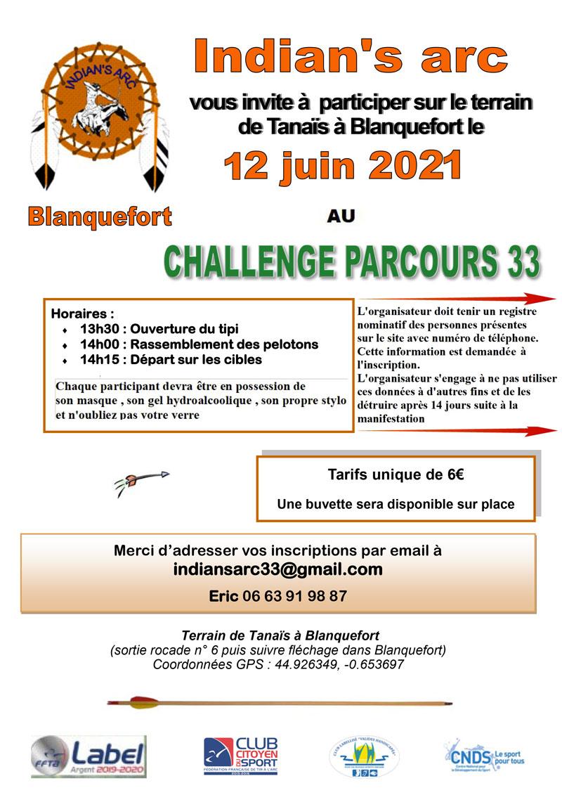 CHALLENGE PARCOURS 33 DU 12 JUIN 2021